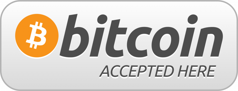 We also accept Bitcoin, Bitcoin Cash, Etherium & Litecoin.